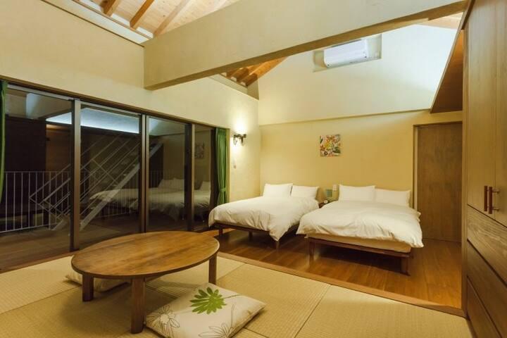 15mins->Churaumi Aquarium/Ocean View/Green Room