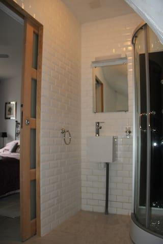 Master bedroom - ensuite shower and toilet.