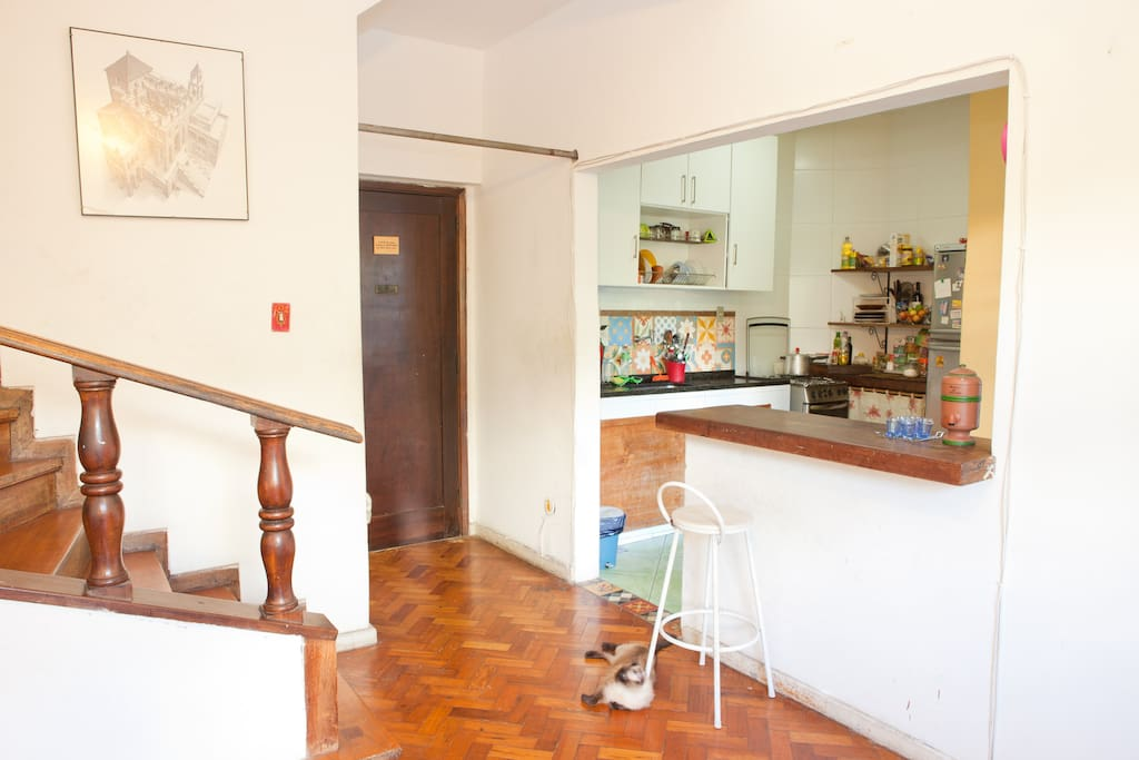 Sala e cozinha compartilhada / Living room and shared kitchen