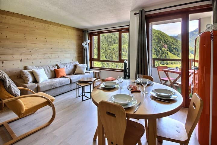APARTMENT WITH SWIMMING POOL AND WIFI- CENTRE SAINT JEAN D'AULPS SKI RESORT - 5 PEOPLE - DAILLE S16