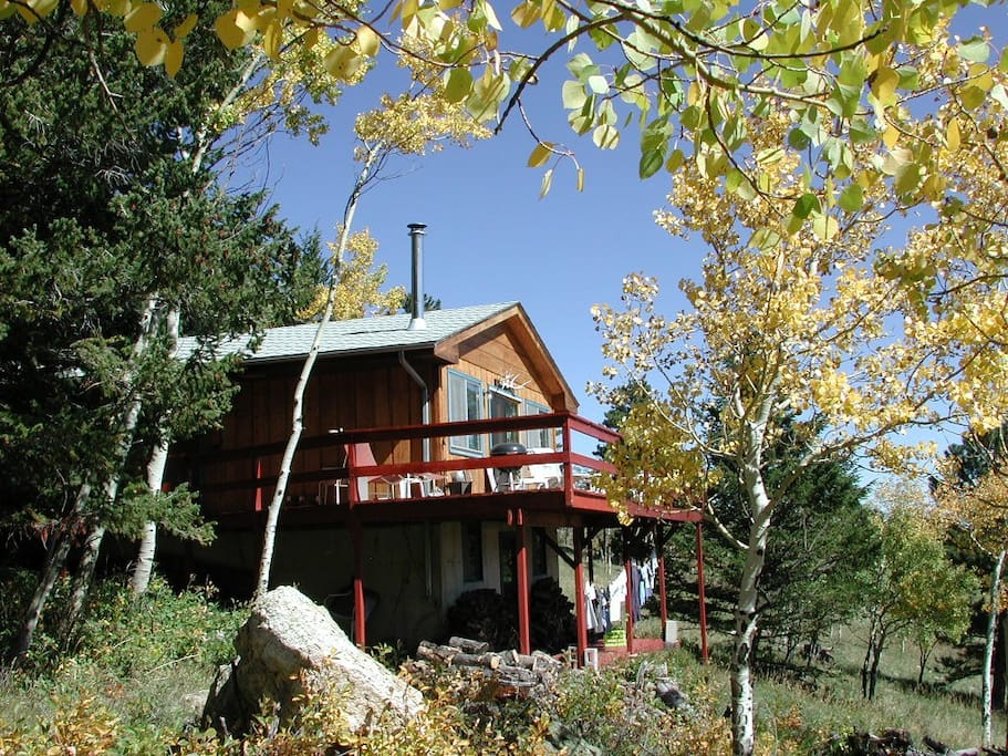 Mountain cabin in colorado cabins for rent in allenspark for Mountain cabin rental colorado