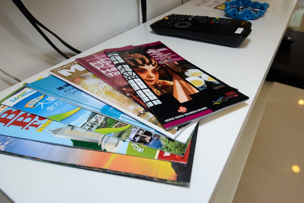 Guidebooks and Maps are all available in the apartment