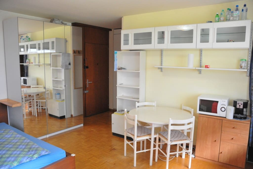 Ample cupboard space for clothes and other storage items