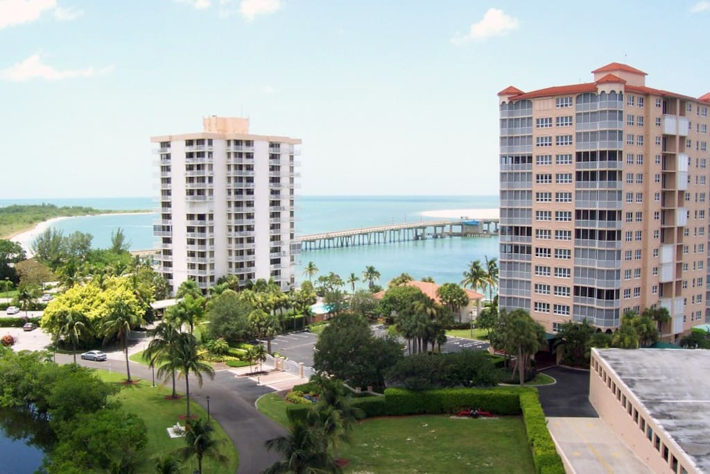 Lovers Key Resort overlooking Estero Bay and the Gulf of Mexico