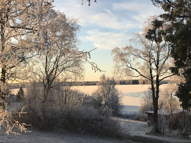 Wintertime view to river