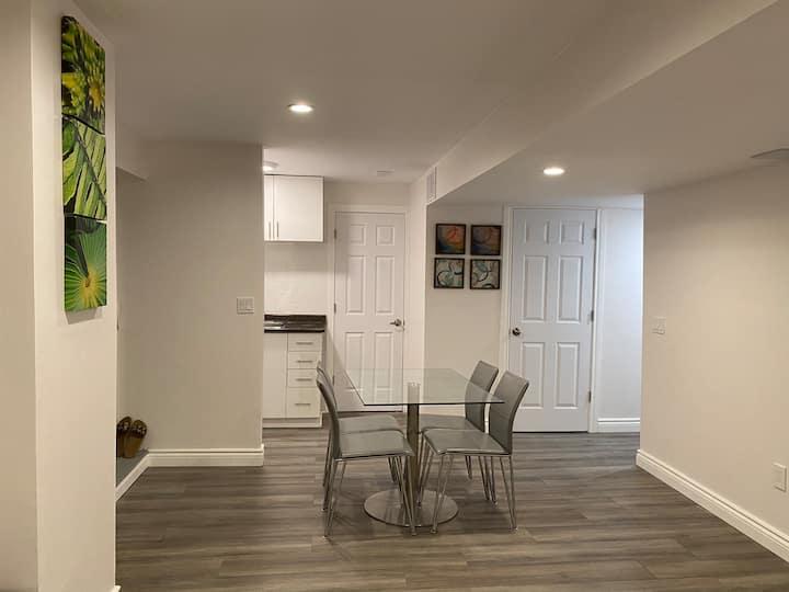 Studio Basement Apartment with WO