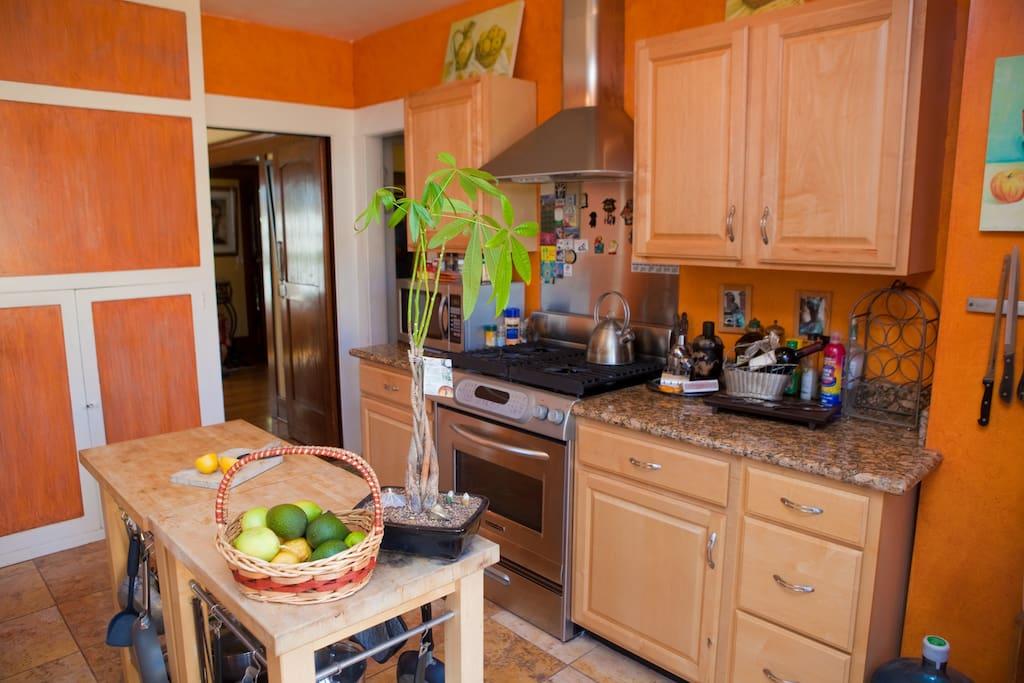 Completely modernized kitchen.