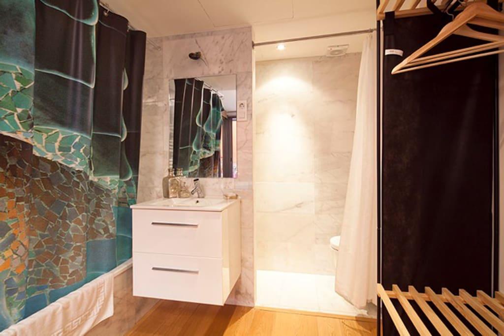 Bathroom inside double bedroom