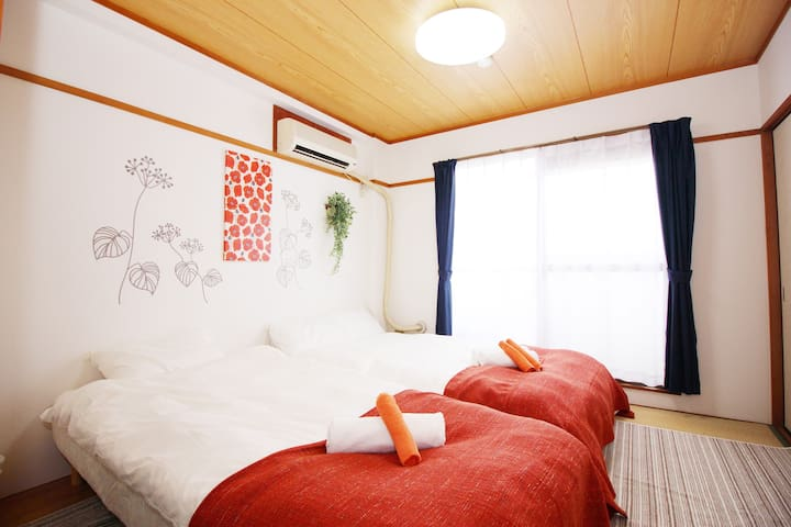 5 min train to Namba sta, 3 beds up to 4 ppl - Ikuno Ward, Osaka - Appartement