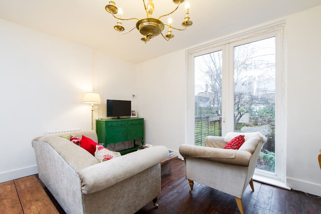 The lounge is light and airy overlooking a landscaped garden. You are welcome to use the TV or choose from a selection of DVDs. Scrabble and cards are also here for your enjoyment.