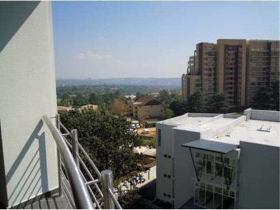 View of Johannesburg from the balcony
