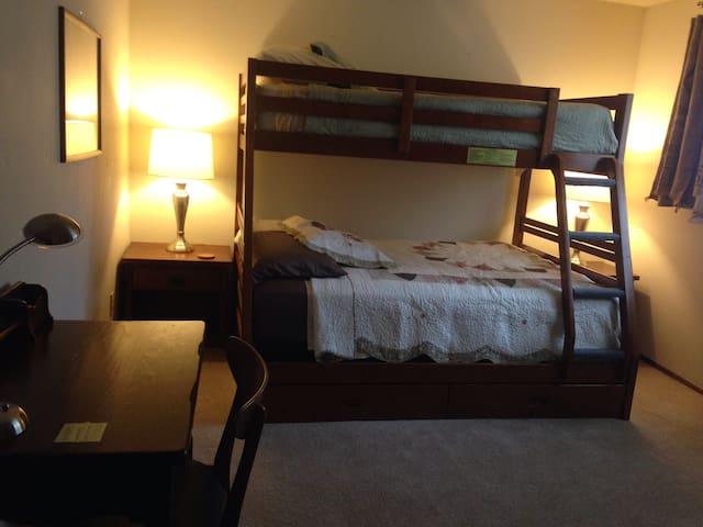 Clean. Quiet. Bunk Bed. Room A
