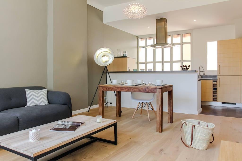 Cozy living-room minimalist style
