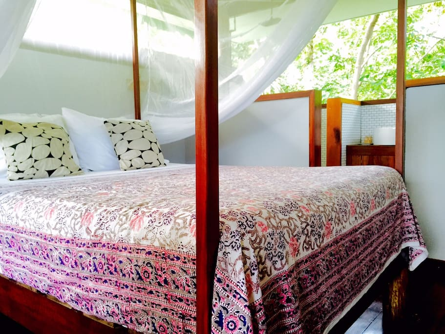 Queen bed in our LORO lodge suite