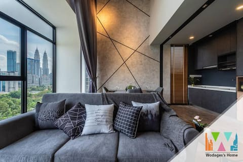 ★Instaworty★KLCC View★Executive Loft★4-5Pax★无敌双子塔景