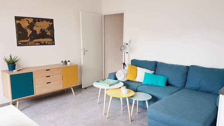 Appartement neuf avec terrasse, proche du centre