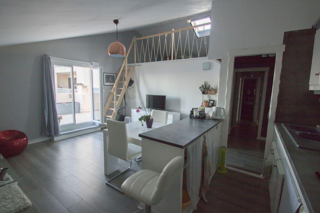 Salon-cuisine-mezzanine