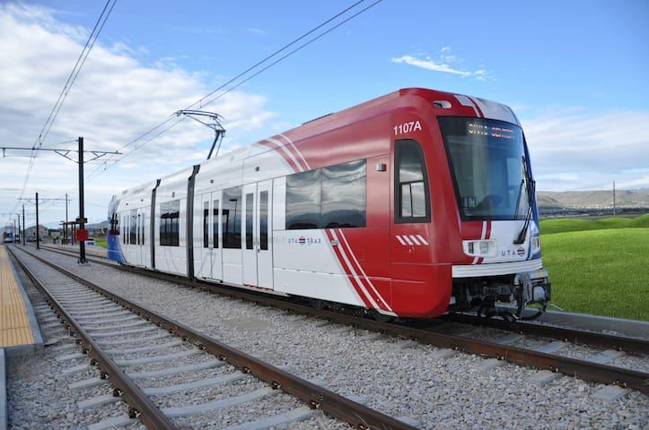 UTA TRAX (light rail) included in stay