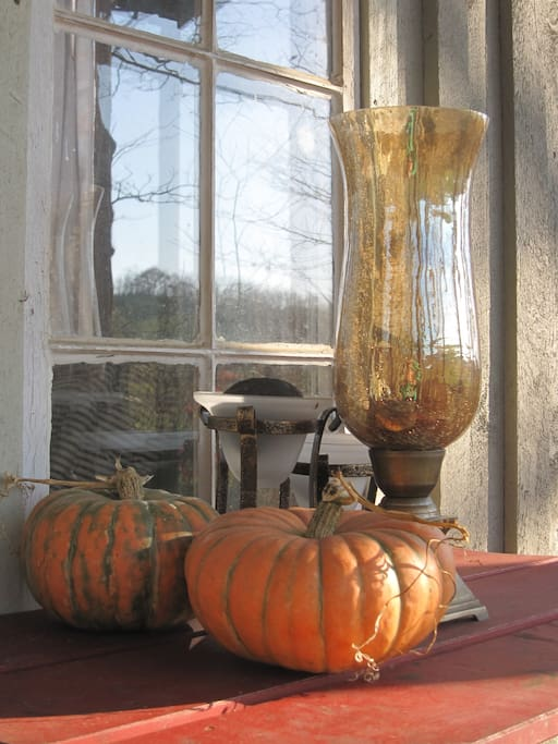 Our front porch in the fall
