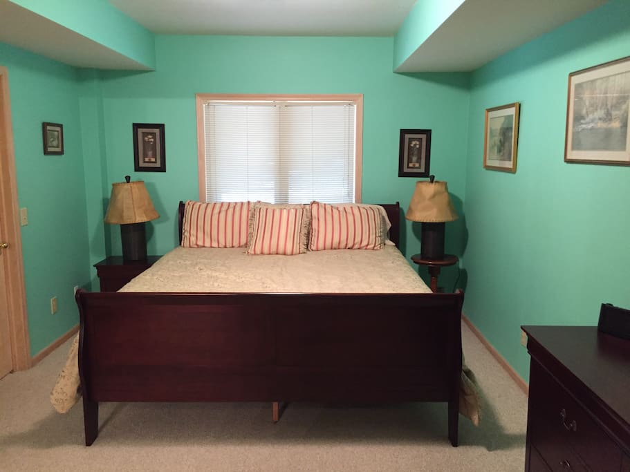 Large bedroom suite in the lower level.