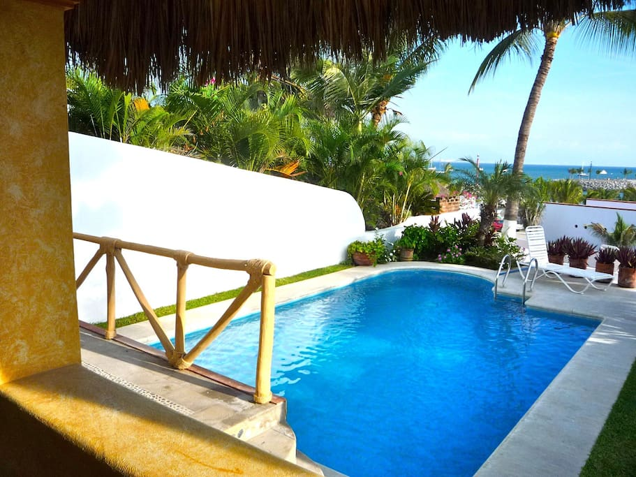 Sparkling tropical pool, with the Bay of Banderas beyond!