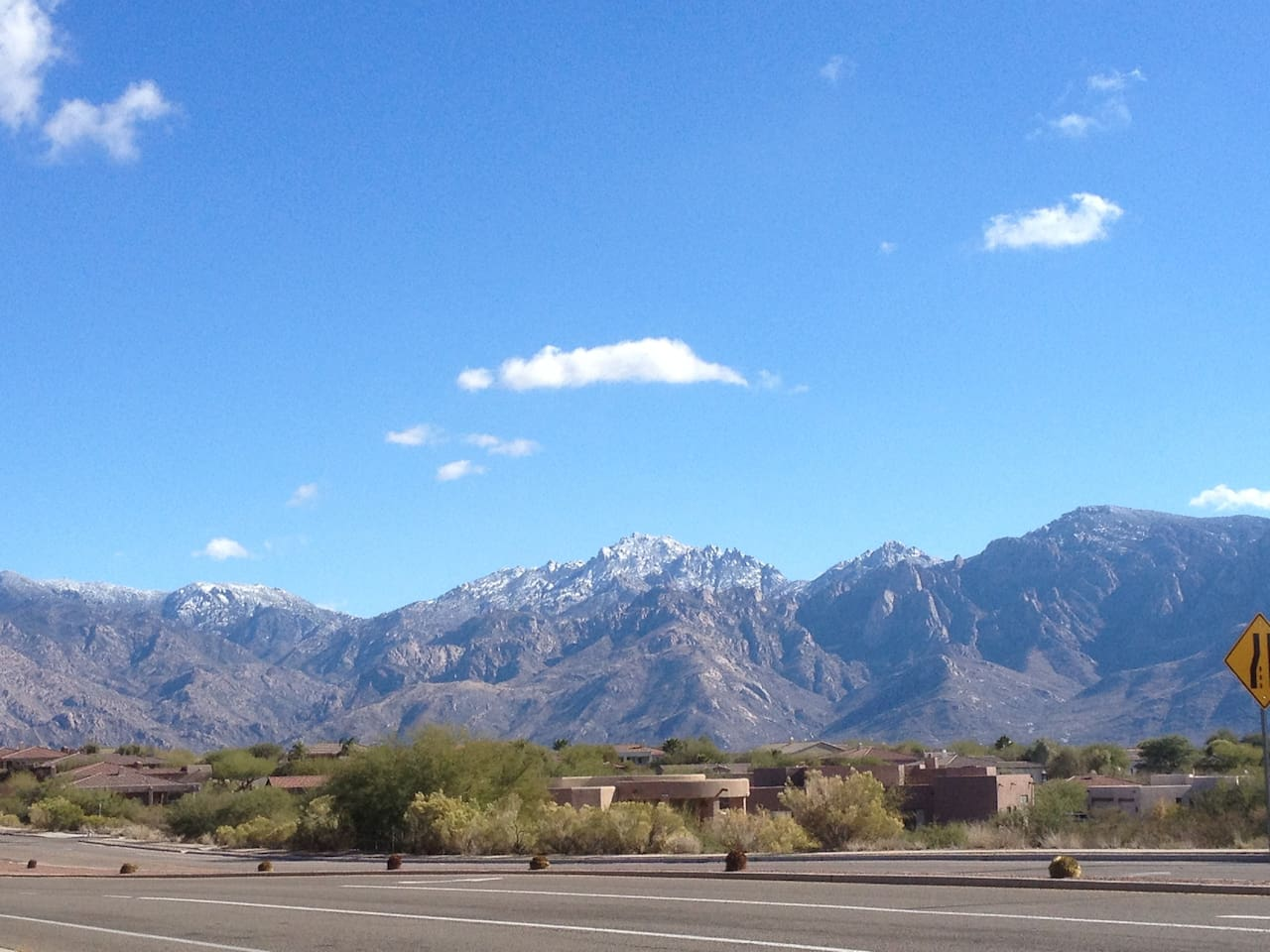 View of the Catalinas after a cold snap