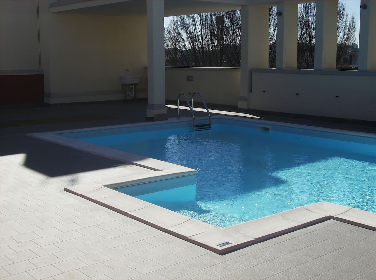 open air swimming pool...excellent from may to september...just beside the sleeping room