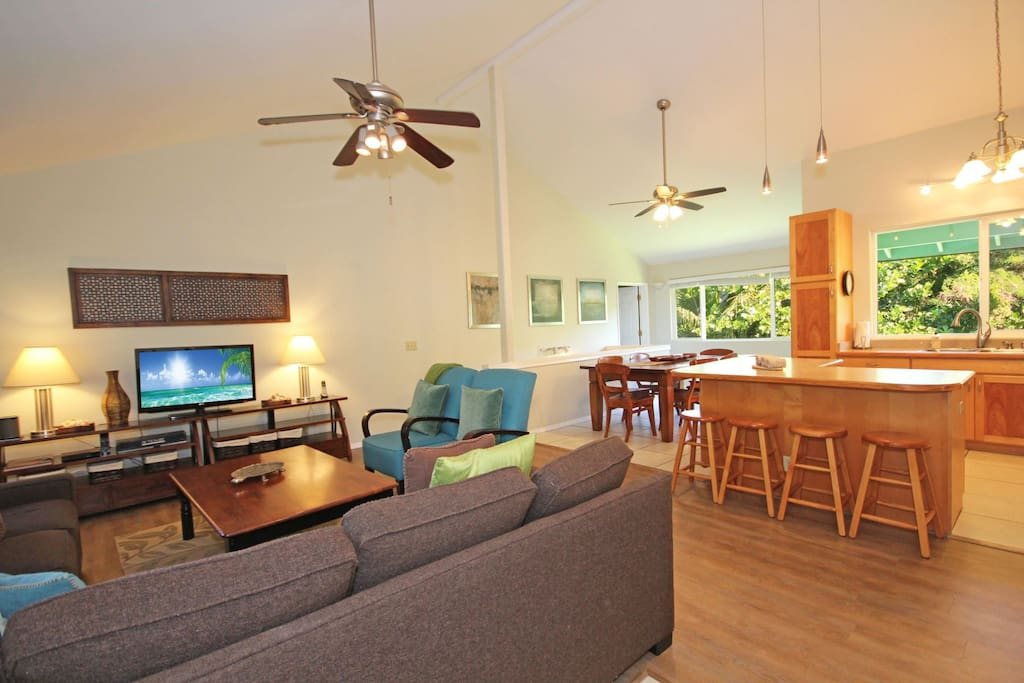 Living, Dining and Kitchen Areas