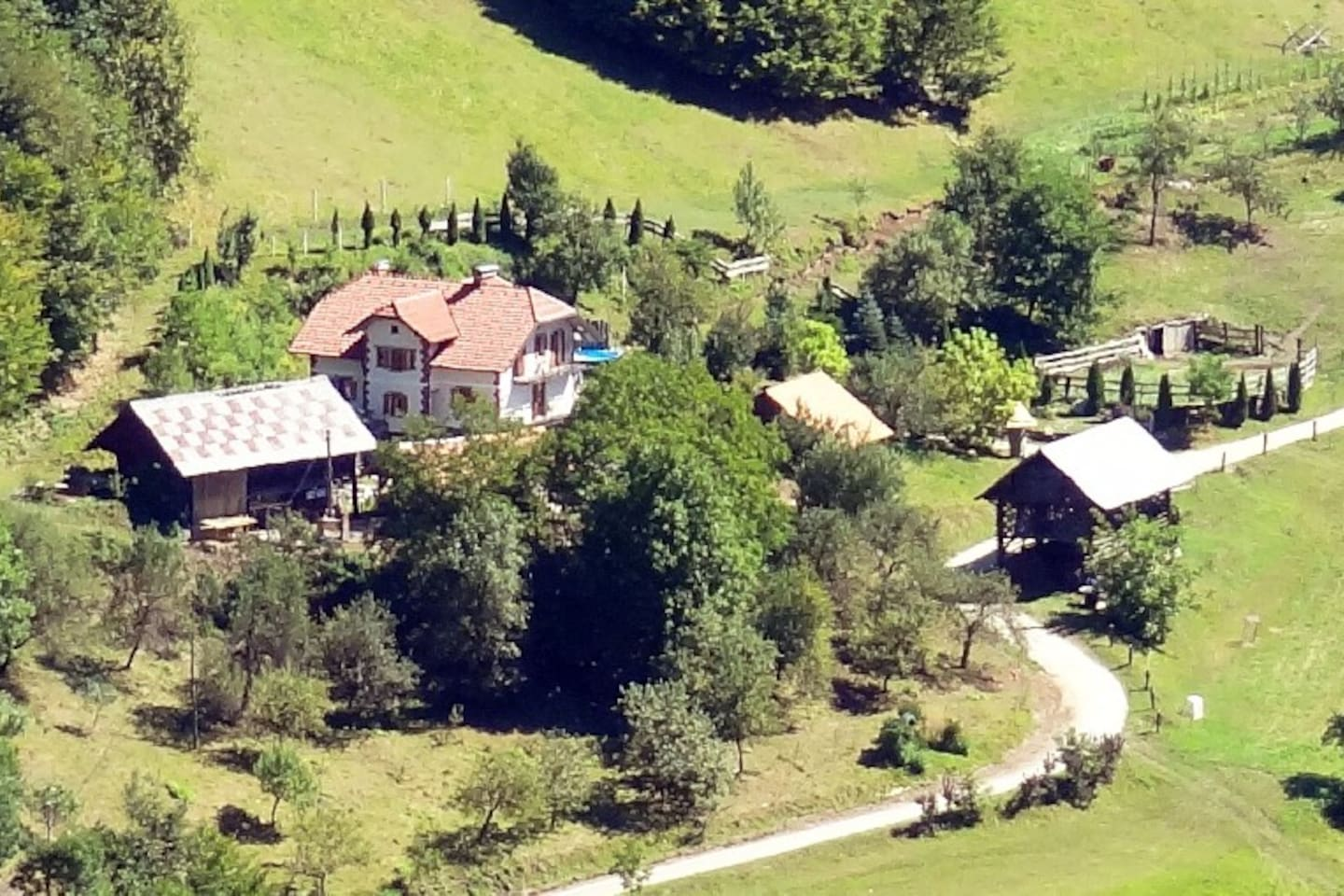 Distance view on the Farmhouse bed & breakfast Weiss - Slovenia