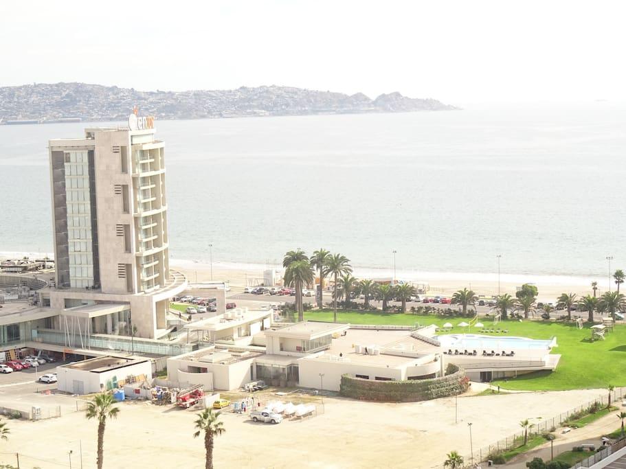 Vista al mar y a la ciudad
