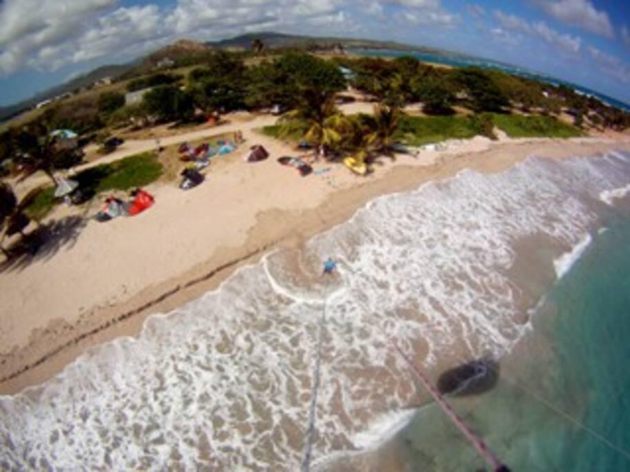 Sea, sand, shade.