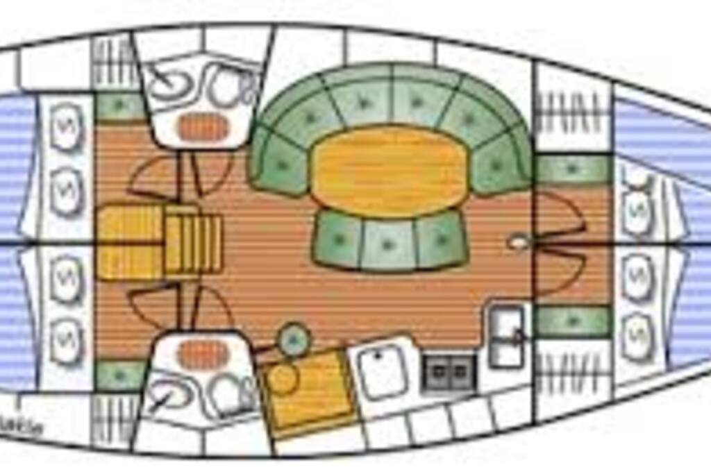 excellent lay out for a comfortable stay for 4 persons - up to 8 persons is possible on request