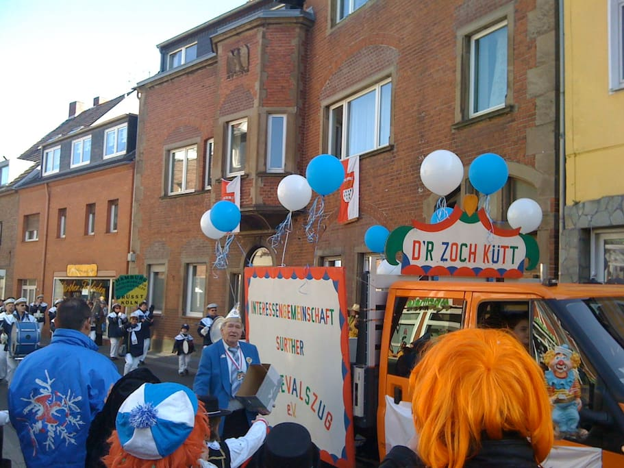 Streetfront during carneval