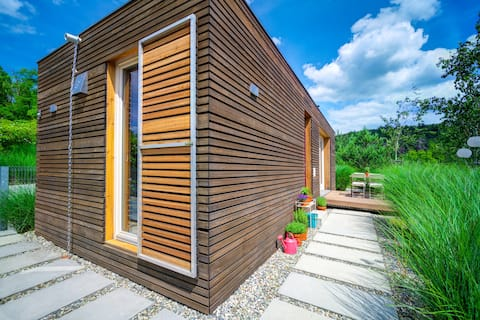 NEDOMEK / pool, BBQ,  550 m2 garden, TOP sound sys