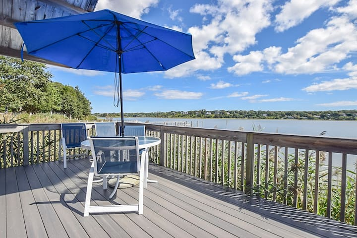#418: Waterfront; inspiring view; raised deck and living area 'above' the water!