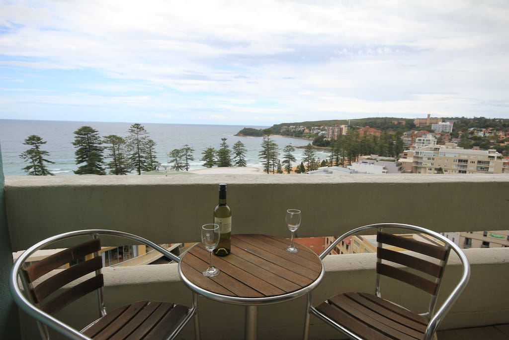 Relax and enjoy the view of Manly Beach