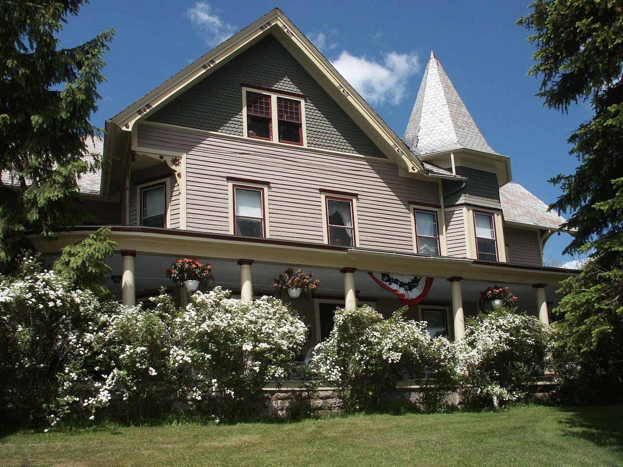 Margaretville Mountain Inn Bed and Breakfast Margaretville, NY spring time
