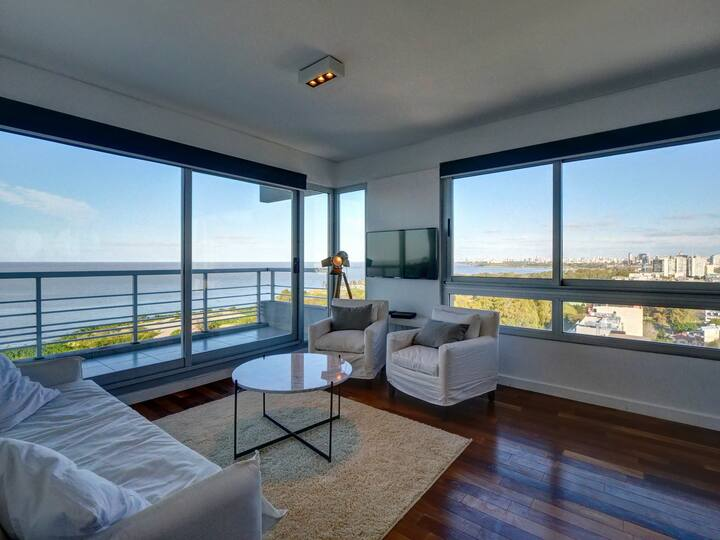 ★16th floor 3-BR w/astonishing views in Olivos