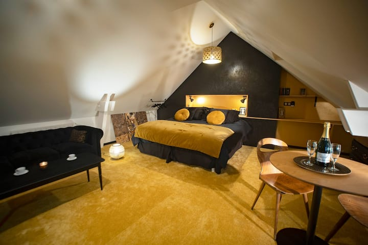 Double room-Chambre « Années folles »-Ensuite with Bath-Premium-Garden View