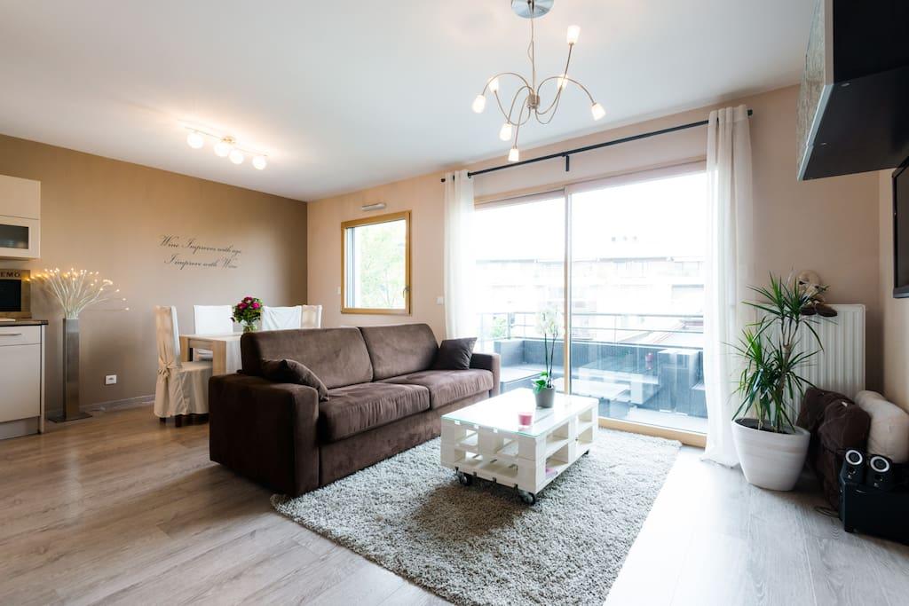 chaleureux appartement proche de gen ve appartements louer annemasse rh ne alpes france. Black Bedroom Furniture Sets. Home Design Ideas