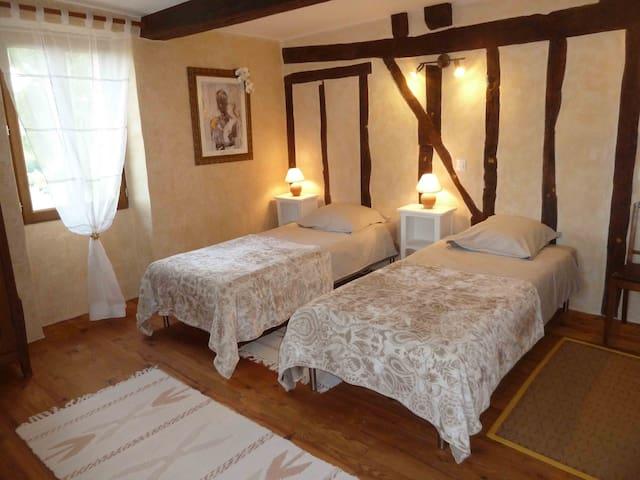 """La chambre """"au lac"""" (2 lits simples)"""