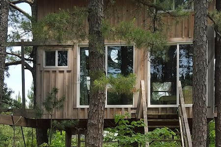 Treehouse Tiny House Farm Retreat in the Country - Grubville - Lombház