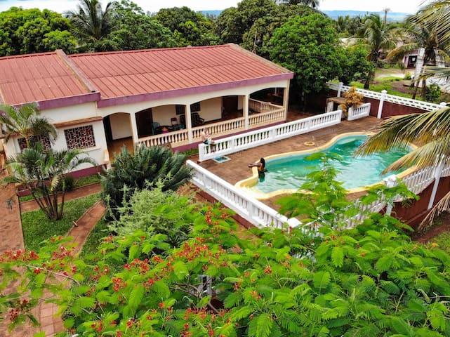 Villa Océane, Chambre avec clim et SdB privée