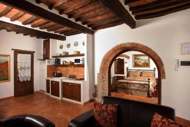 Beautiful ground floor suite with garden view - Cortona - Appartement