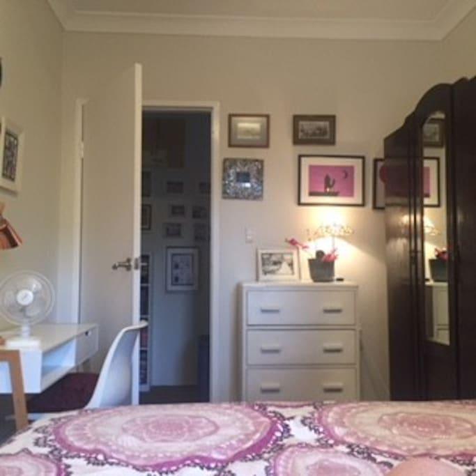 in the double bedroom