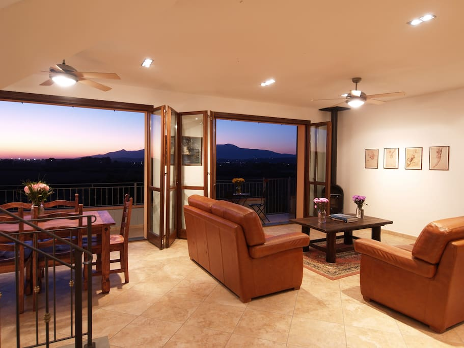 House #1: The French doors and can be opened to enjoy the Tuscan breeze