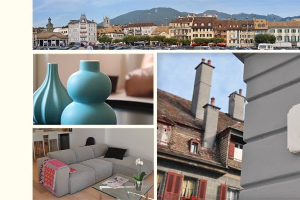 Exclusive business apartments for short or long term stay in center of Vevey, close to lakefront