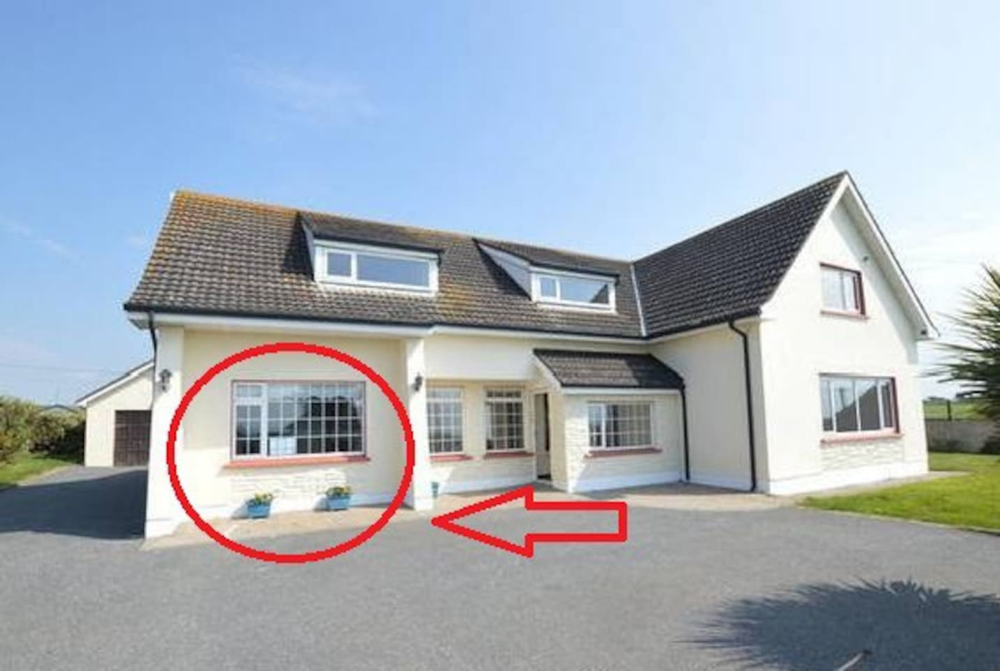 Benvoy House apartment - within the red circle. Private entrance is at the rear with ample parking