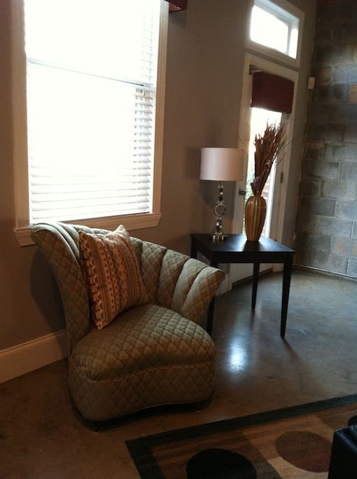 Sitting area within living room