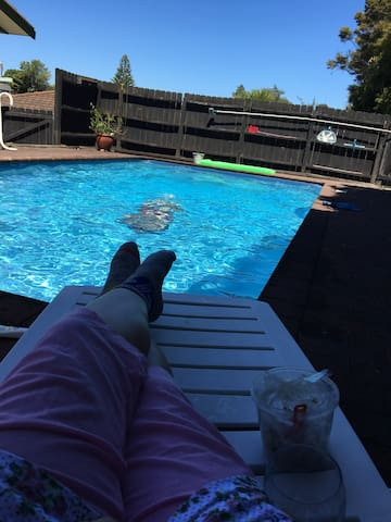 Kiwi hangout with in-house swimming pool